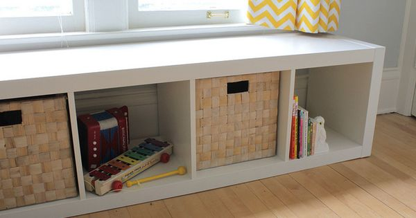 Genius Idea Ikea Expedit Shelves With Baskets For Storage: The Single Would Be Perfect For Under