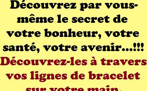 Decouvrez Par Vous Meme Le Secret De Votre Bonheur Votre Sante Votre Avenir Decouvrez Les A Travers Vos Lignes De Bracelet Sur Votre Main Bra Active Maine