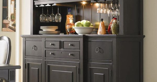 A Great Way To Finish Off Your Dining Room With This Stylish Serving Buffet Behind The Doors