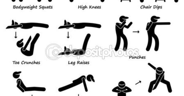 crunch exercise stick man
