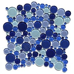 Round Bubbles Glass Tile Mosaic Crystal Glass Bubbles Round Mosaic Glass Tile Glbu17 1200m050 Blue Blend Glossy Glass Tile Bubble Glass Mosaic Glass