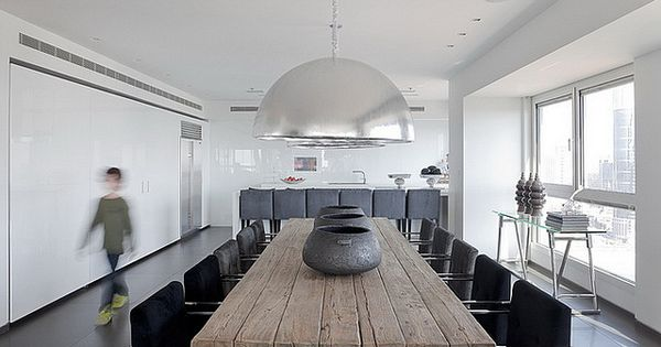 Modern Apartment Design Ideas:Modern Apartment Design Ideas, Natural Wood Dining Table with