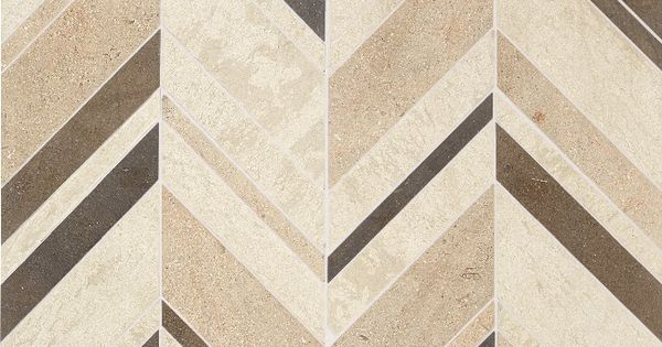 Daltile Limestone Collection Fusion Brun Large Chevron