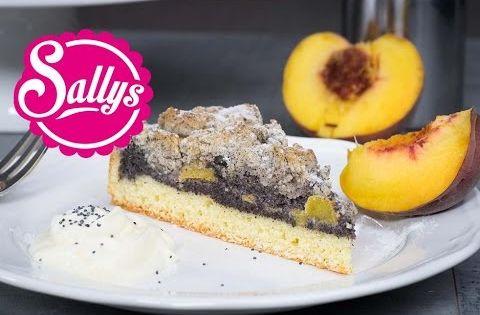 Mohn pfirsich kuchen mit streuseln rezept sonntagskuchen - Youtube kuchen ...