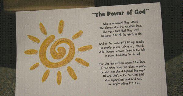 The Power of God | Kid's Crafts | Pinterest | Sunday school crafts, Sunday school and Craft