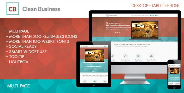 Clean Business Multipage Muse Template Adobe Muse How To Memorize Things Templates