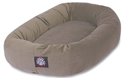 40 Inch Stone Suede Bagel Dog Bed By Majestic Pet Product Oval Dog Bed Majestic Pet Dog Bed
