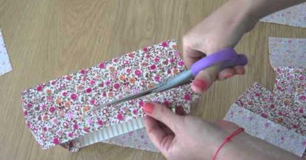 Recouvrir une boite de tissu activit s manuelles - Recyclage activite manuelle ...
