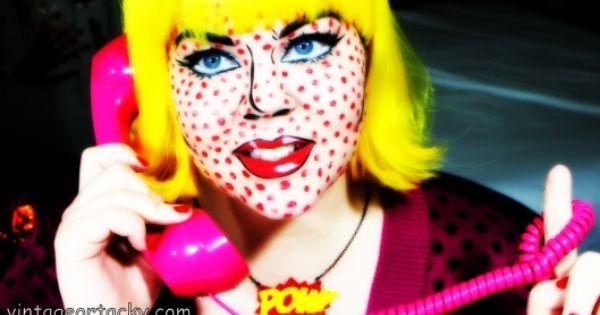 Love Her Vintageortacky S Pop Art Makeup Tutorial Carnaval