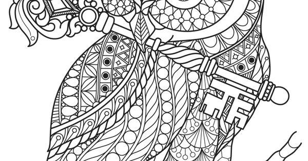 Dibujos De Buhos Para Imprimir Y Colorear: Buho Con Página Clave Para Colorear Para Imprimir Por