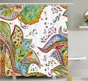 Haskell Boho Bouquet Single Shower Curtain Shower Curtain Sets
