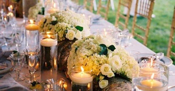 hochzeitstischdeko im rustikalen stil birkenast als vase f r die blumen deko pinterest. Black Bedroom Furniture Sets. Home Design Ideas