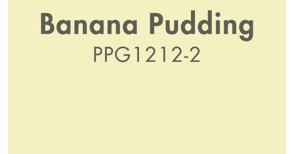Banana Pudding Paint Color Is Part Of The Yellows Color