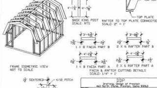 Shed Plans 10x12 Gambrel Shed Construct101 Shed Plans 10x10 Shed Plans Diy Shed Plans