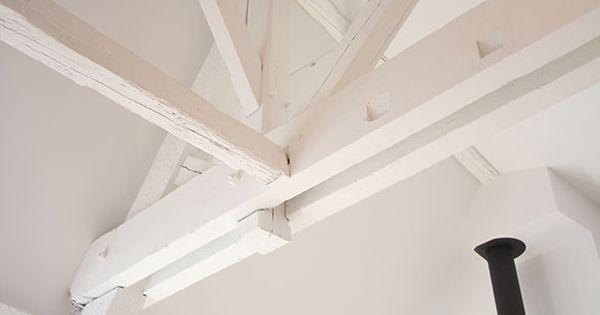 Poutres peintes en blanc loft s pinterest loft for Poutres peintes