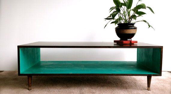 Handmade Coffee Table Mid Century Modern Coffee Table Mcm Furniture Mcm Furniture Brown