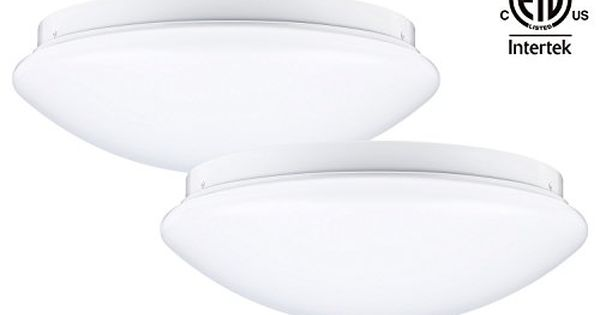 Leonlite 12inch Dimmable Led Flush Mount Ceiling Light 16w 86w Fluorescent Equivalent 5000k Daylight Flush Mount Ceiling Lights Led Flush Mount Ceiling Lights
