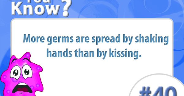 Did You Know That More Germs Are Spread By Shaking Hands