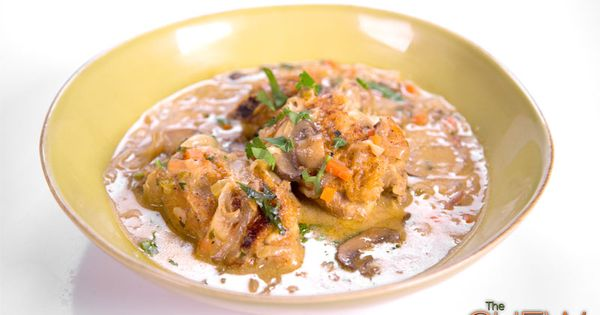 Chicken Fricassee (French Stew) The Chew; Michael Symon