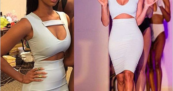 White bandage dress, chest strap, cut out mid section, Aliexpress - interieur trends im sommer inspiration bilder