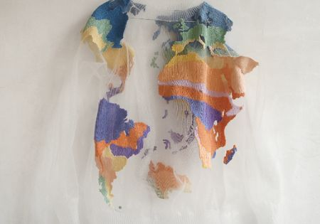 World Map Sweater