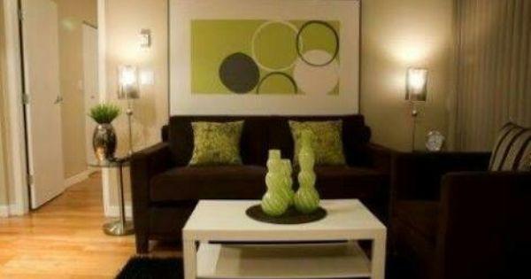 Colores Para Combinar Con Sala Cafe Brown And Green Living Room Brown Living Room Decor Brown Living Room