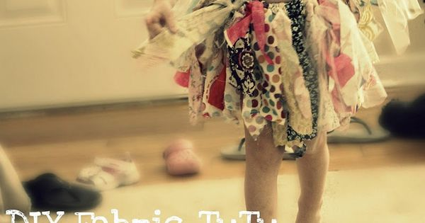 DIY fabric tutu using fabric scraps