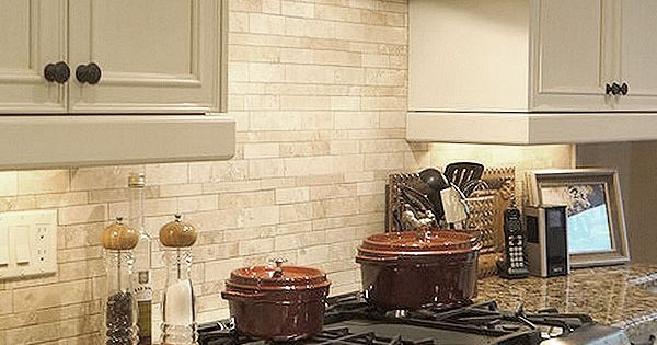 light ivory travertine kitchen subway backsplash tile from backsplash