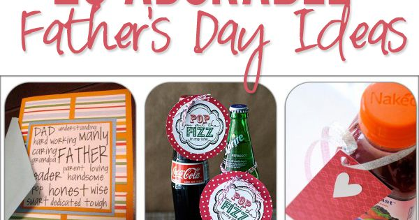 26 Adorable Father's Day Ideas. I like the POP ROCKS idea for