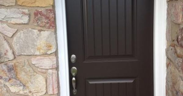 Masonite 36 In X 80 In Cheyenne 2 Panel Painted Smooth Fiberglass Prehung Front Door Home