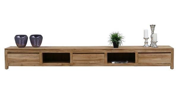 Tv dressoir teak 300cm staande tv meubelen tv meubel zen lifestyle huis woonkamer - Sfeer zen lounge ...