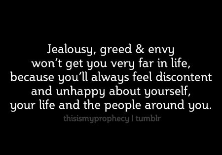Stop the Envy and be happy for others instead of been jealously