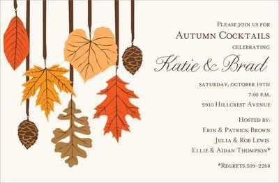 Harvest Trim Invitations Fall Party Invitations Thanksgiving Invitation Party Invitations