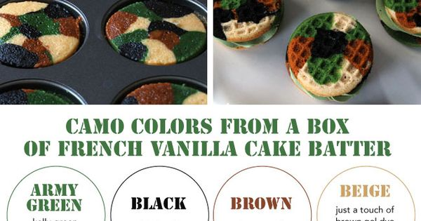 how to make cake camo colors