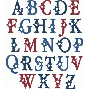Silhouette Design Store Star Alphabet Uppercase Lettering Alphabet Lettering Lettering Tutorial