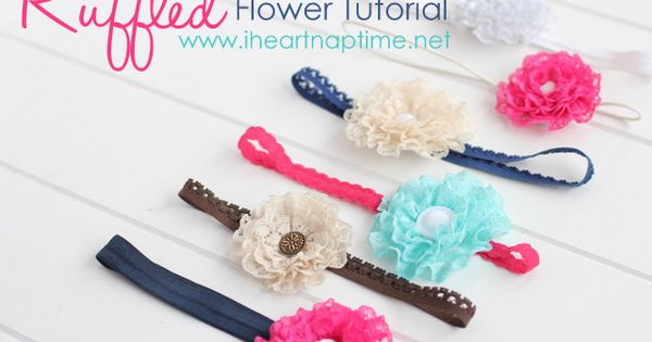 Ruffled flowers headbands - DIY