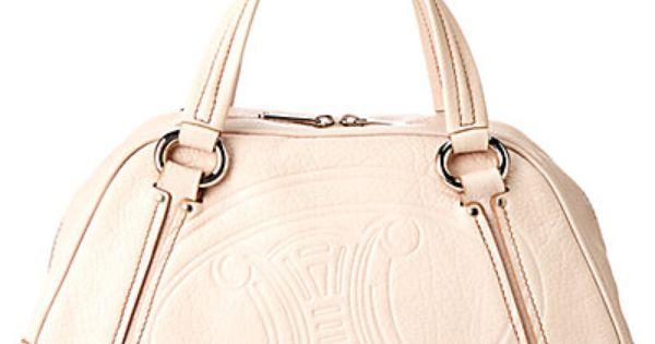 celine ecru leather handbag