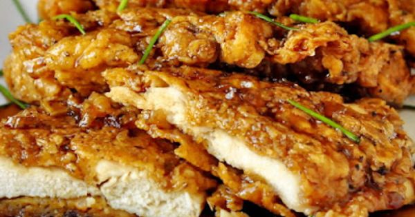 Double crunch honey garlic chicken breasts. I'll have to try the porkchop