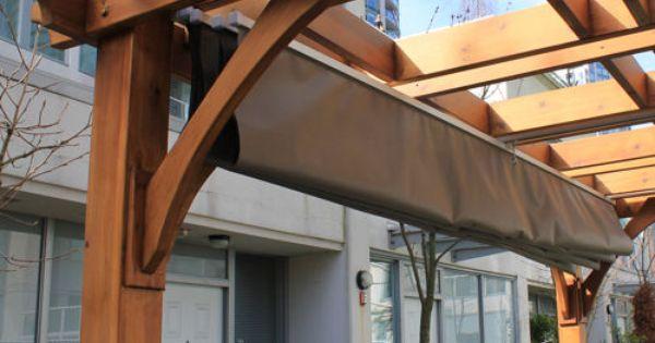 Breeze Pergola With Retractable Canopy Costco Backyard