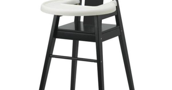 Bl 197 Mes High Chair With Tray Black Birch Ikea Svart Och