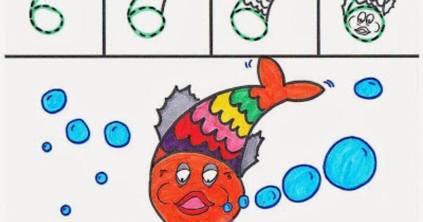 El 6 Un Pez Dibujos Para Ninos Dibujos Aprender A Dibujar