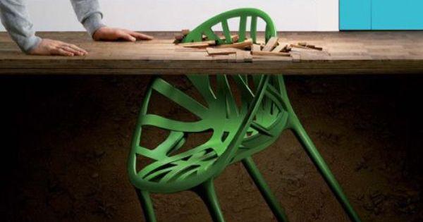 Chaise design vegetal par les fr res bouroullec design - Les freres bouroullec ...