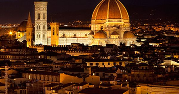 Florence, Tuscany, Italy at night. ... What a beautiful city!!