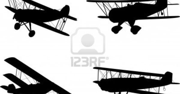 Vintage Airplanes Silhouettes Stock Photo 7906308 In