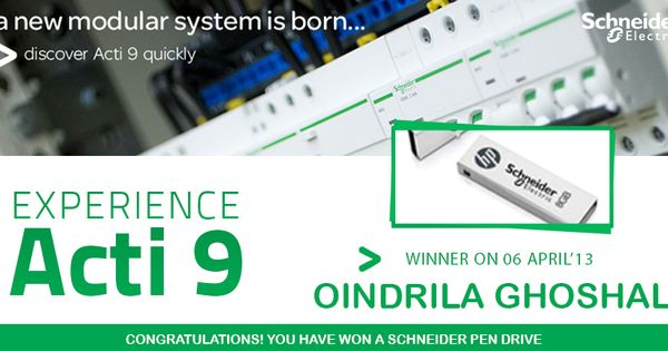 Congratulations Oindrila Ghoshal On Being The Lucky Winner In Our