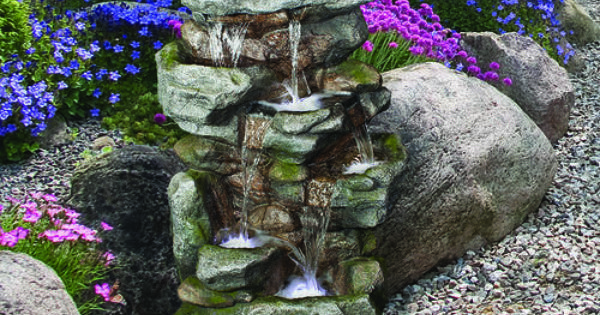 5 Tier Orowood Outdoor Fountain With Lights At Menards Landscaping Ideas Pinterest