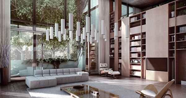 Utilizing high ceilings and tall walls casas for Taller decoracion de interiores