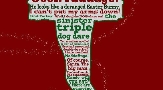 Quotes From A Christmas Story: A Christmas Story Funny Quote Poster 12x18 By