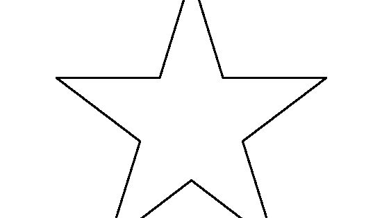 6 Inch Star Pattern. Use The Printable Outline For Crafts
