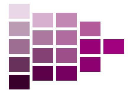 紫色系の明度 彩度のカラーチャート カラーチャート ネイル 紫 赤
